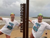 Caroline Corkery and renowned long-distance swimmer Elaine Burrows Dillane promoting the