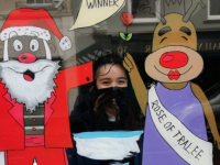 PHOTOS: Presentation Students Bring Smiles With Festive Artwork On Vacant Shopfronts