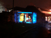 Siamsa Tíre will project Christmas carol singing on to the side of their building in the run up to Christmas.