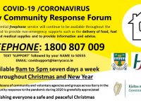 Local COVID-19 Freephone Helpline To Remain Open Over Christmas/New Year Period