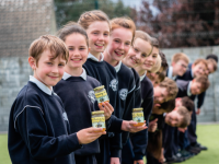 Spa NS pupils pictured a few years ago with their Spa Buzzing Honey product as part of the JEP.