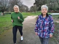 Michelle Greaney with the late Jemma O'Shea's sister Josie O'Shea looking forward to the virtual run/walk at Easter.