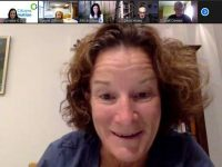 Sonia O'Sullivan taking part in a Zoom session to help launch the South Munster Citizens Information Service's Wellness Policy and Programme.