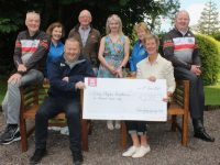 At the presentation of €5,000 to the Kerry Hospice Foundation by the Chain Gang Cycling Club at The Meadowlands Hotel on Thursday evening were, front from left; John Murray of the Chain Gang and Maura Sullivan accepting for Kerry Hospice Foundation. Back from left; David Elton (Chain Gang); Bridie O'Connor (Kerry Hospice); Pat Keohane (Chain Gang); Avril Hewitt (Chain Gang); Ita Behan (Kerry Hospice) and Seamus Cotter (Chain Gang). Photo by Dermot Crean