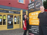 Fearghal Kirby with Roksana Jamroz at MJ's Diner in Clash which now has a new carvery and hot and cold deli counter.