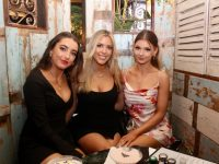 Rachel Doherty, Leah Kavanagh and Laura Foley at Molly J's Courtyard Bar @ Benners Hotel on Thursday evening. Photo by Dermot Crean