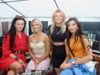 Sarah Griffin, Christina Foley, Grace Sheehan and Anna Foley at The Klub Bar at Kerins O'Rahillys GAA Club on Friday night. Photo by Dermot Crean