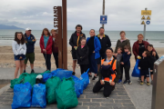 Volunteers who took part in the clean-up in Banna on Saturday.