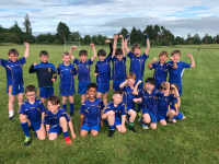 Ballymac U9 Boys teamsthrilled to be playing in the County Go Games at home in Ballymac last Thursday night.