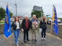 Helen and Paddy Shea  and Paddy and Ornagh Moriarty at the Blennerville commemoration.