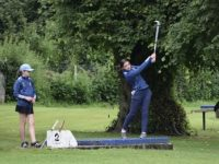 Sophie and Ella Moynihan on the course last Saturday.
