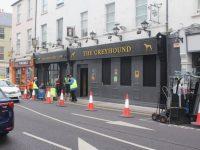 Hennessy's Bar got a change of signage on Thursday for filming scenes for 'Joyride'.