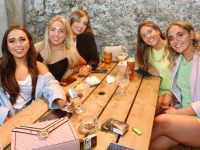 Stacey Dunne, Kerrie Dunne, Leah Doyle, Lisa Walsh and Katie Dunne at Molly J's Courtyard Bar at Benners on Thursday. Photo by Dermot Crean