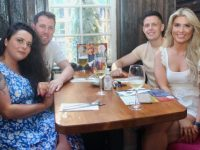 Claire Goodall, Anthony Shanahan, Damien Quirke and Laura Tobin enjoying a night out at Molly J's Courtyard Bar at Benners on Friday. Photo by Dermot Crean