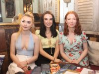 Smejana Herbst, Millie Moore and Claudia Ward at Molly J's Courtyard Bar at Benners on Thursday night. Photo by Dermot Crean