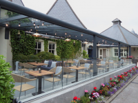 The new outdoor covered and heated terrace area at The Meadowlands Hotel.