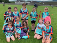 Kerins O' Rahilly's young ladies on the final day of Cúl Camp 2021.