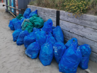 Some of the rubbish collected at the June clean-up in Banna.