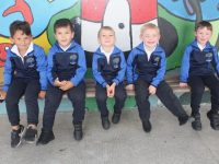 Ms Quirke's CBS Primary School Junior Infants in the yard during playtime on Tuesday morning. Photo by Dermot Crean