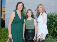 Former Listellick NS pupil, Jennifer O'Mahony, with Caroline and Nicole O'Mahony, at her Confirmation Day at Our Lady and St Brendan's Church on Wednesday. Photo by Dermot Crean