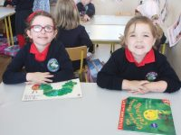 Listellick NS Junior Infants on their first day at school on Thursday. Photo by Dermot Crean