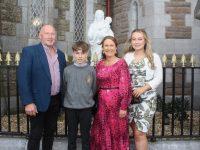Éanna Ryle with Finbarr, Deirdre and Ailbhe Ryle, at the Caherleaheen NS Confirmation Day at St John's Church on Sunday. Photo by Dermot Crean