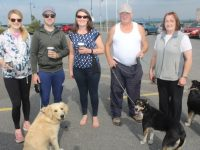 Deirdre Poff, Jonathan O'Regan, Denise Poff, William Counihan and Mary Counihan with Bessie Cooper and Roxy, at the Tony O'Donoghue annual walk on Saturday from Blennerville Windmill. Photo by Dermot Crean