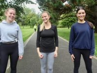 Danielle O'Leary, Karen O'Leary and Michelle O'Leary at the Park Run on Saturday morning. Photo by Dermot Crean