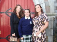 Katie Vacek with Kelly Kelliher and Natalie Kelliher at the Presentation Primary School Confirmations at St John's Church on Sunday. Photo by Dermot Crean