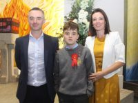 Sean McCannon, with Mike and Joyce McCannon, at the Scoil Eoin Balloonagh Confirmation Day at Our Lady and St Brendan's Church on Saturday. Photo by Dermot Crean