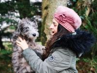 Last year's Petmania Puppy of the Year 2020, Cloud, a Greengrass Lurcher with human companion Áine Ni Fhaoláin.