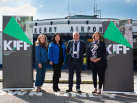 Kerry Airport CEO John Mulhern with Kerry scriptwriter Ailbhe Keogan (left),Irish Film and Television Industry CEO Áine Moriarty and Kerry Film Festival Chairperson Grace O'Donnell. Photo by John Walsh