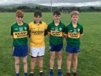 Ballymac players on North Kerry U14 Development Squad.                      Jack Joy, Cian Harris,vEoin Moriarty and Màirtin Mc Kivergan