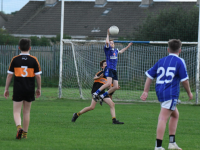 Class action shot of Kerins O' Rahilly's U13 Nick Lacey v Austin Stacks