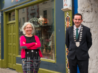 Pictured in Listowel at the launch of the fourth annual Architecture Kerry Festival are Mayor of Kerry, Cllr. Jimmy Moloney and Victoria McCarthy, Architectural Conservation Officer, Kerry County Council. The festival which includes free guided tours and exhibitions across Kerry takes place from 24th to 26th September. Full programme of events on www.architecture.kerrycoco.ie. Photo: Pauline Dennigan