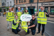 Pictured outside the Cara Credit Union Tralee were Roisin Smullen Cara Credit Union & Tralee tidy Towns , Joe Moynihan Tralee Tidy Towns  , Tim Guiheen Tralee Tidy Towns , Pa Laide CEO Cara Credit Union  . FRONT : L/R Michelle Quirke cara Credit Union and Brendan O'Brien Tralee Tidy Towns .