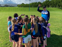 Kerins O Rahillys Under 8 Girls with coach Maurice Horan