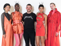 Ardfert-based fashion designer with models wearing his latest collection.