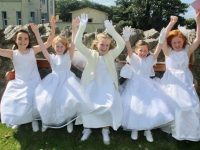 Spa NS pupils who made their First Holy Communion at the Church of the Purification in Churchill on Saturday morning. Photo by Dermot Crean