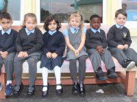 Junior infants at St John's Parochial School Ashe Street on their first day. Photo by Dermot Crean