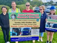 Karen Maher Hayles (centre) who is organising the Hawley O'Sullivan Memorial Truck Run, pictured with Emma Hayles, Michael Maher, Urney Maher and Ciara Hayles.